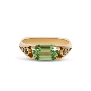 one of a kind green gemstone ring
